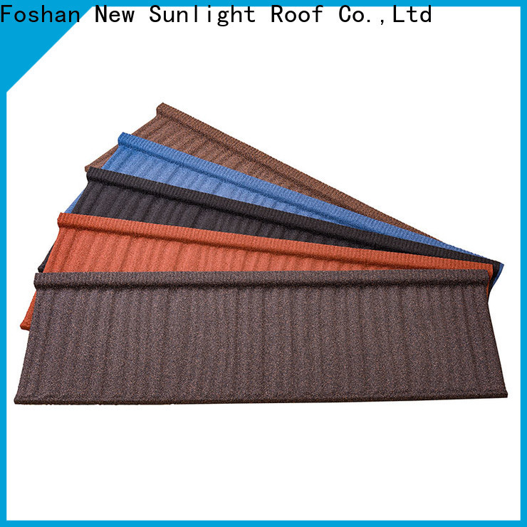 top metal tile roofing sheets coated factory for Hotel
