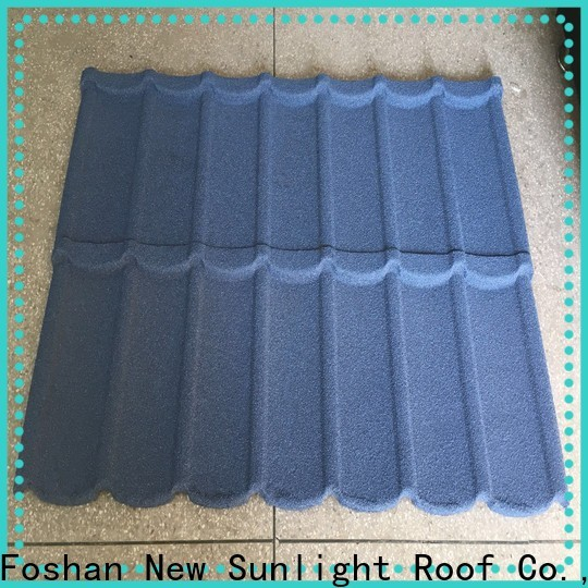 New Sunlight Roof colorful stone coated roofing tiles price factory for garden construction