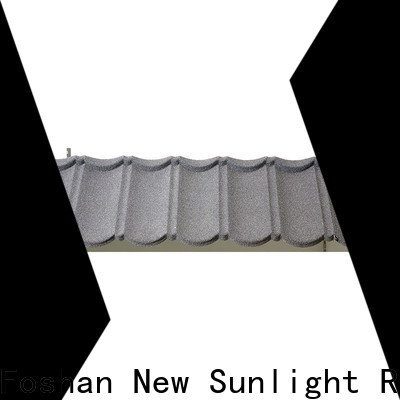 New Sunlight Roof stone coated steel shingles factory for industrial workshop