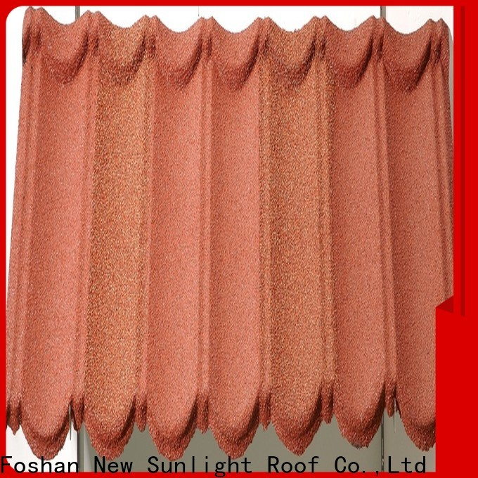 New Sunlight Roof tile stone coated roofing tiles price for business for warehouse market