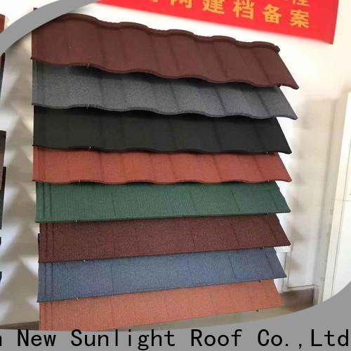 New Sunlight Roof bond zinc roof tiles supply for garden construction